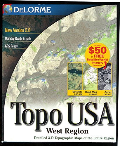 S-topo USA 5.0 Regional West Topo-mapping-software