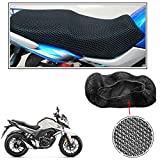 #7: Vheelocityin No Heat Net Seat Cover Motorcycle / Bike/ Scooty Seat Cover For Honda CB Hornet 160R