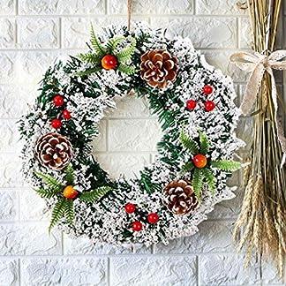 Sayala Navidad Decoración Guirnalda de Navidad Corona de Navidad Decoración Guirnaldas de Puertas para Fiestas de Navidad con Cono de Pino Baya