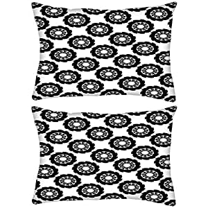 Pack of 2 Multiple Chakra Rectangle Toss Throw Pillow Cushion Cover Decoarative Pillow Cover 14 x 22""