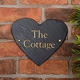 Rustikal Herz Form House Zeichen, personalisierbar mit Ihrer Adresse–Versandkostenfrei in Großbritannien