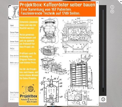 Kaffeeröster selber bauen: Deine Projektbox inkl. 167 Original-Patenten bringt Dich mit Spaß ans Ziel!