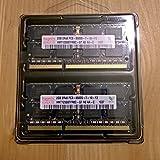 Dual Channel Kit: 2 x 2 GB = 4GB HYNIX 204 pin DDR3-1066 SODIMM (1066Mhz, PC2-8500, CL7) 128Mx8x16 double side, 2 x HMT125S6AFP8C-G7 für DDR3-NOTEBOOKs, MacBook, MacBook Pro, iMac, mac mini (2009 Versionen)