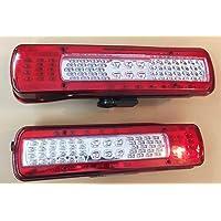 Nrpfell 2Pz 12V 6 LED Rimorchio Fanale Posteriore Indicatori di Direzione Luci di Posizione Spia per Camion Furgone Rimorchio Luci Luci Giallo