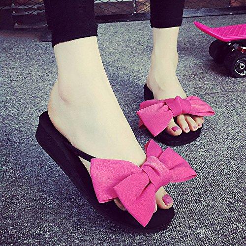 Estate Sandali Sandali / pantofole delle donne dei pistoni di modo di estate (colore rosso / nero / blu scuro / dentellare / giallo / azzurro) Colore / formato facoltativo Rosa