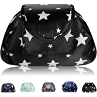 Lazy Drawstring Makeup Bags, Large Capacity Waterproof Travel Portable Cosmetic Bag Pouch Makeup Pouch Storage Organiser for Women Girl (All Star)
