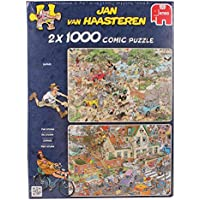 Jan van Haasteren -  Safari and Storm 1000 Piece Jigsaw Puzzles (Pack of 2)