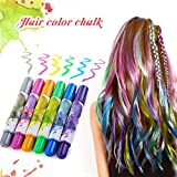 Hair Pastello, Luckyfine 6 colori Wearable Hair Chalk Set Metallic Glitter Temporary Hair Color pastello per capelli per ragazza, non tossico e ideale per costumi, carnevale, feste, festival ecc.