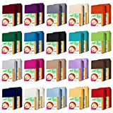 AR Line DOPPELPACK KINDER Jersey Spannbettlaken 70 x 140 cm aus 100% Baumwolle für Kinderbett/Babybett, in Farbe: Türkis
