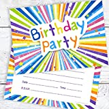 Children's Birthday Party Invitations - Kids Ready to Write Party Invites - A6 Postcard Size with envelopes (Pack of 10)