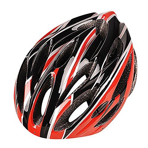 LEvifun Carbon Fahrradhelm Fahrrad Helme Schlittschuh Radsport Radfahren Helme Mountainbike Rennrad Fahrrad Leicht (Orange)
