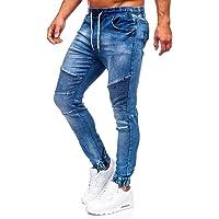 BOLF Homme Pantalon Cargo de Randonnée Fonctionnel d'extérieur de Sport Loisir Joggeur Jogging avec Cordon de Serrage…