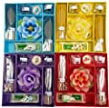 Incense and Candle Gift Set - Elephant Burner, Incense Sticks, Incense Cones, Burner Dish and a Flower Candle.