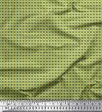Soimoi Braun Poly Georgette Stoff geometrisch abstrakt