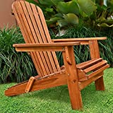 Adirondack Garden Lounger Chair Patio Deckchair Wooden Acacia Wood Armchair Perfect Outdoor Terrace...