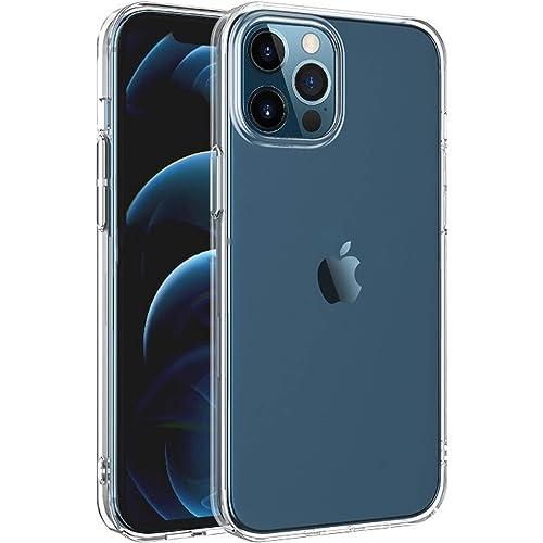 NEW'C Cover compatibile con iPhone 12 Pro Max (6.7 pollici) [ Ultra Trasparente Silicone Gel TPU Morbido ] Custodia Protettiva con Assorbimento di urti e Scratch