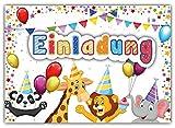 12 Einladungskarten zum Kindergeburtstag Zoo Tiere // Geburtstagseinladungen Einladungen Geburtstag Kinder Jungen Mädchen Einladungstext 1. 2. Vorlagen Karten