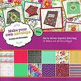 Scrapbook Papier Bastelblock Motivpapier 30,5 x 30,5 cm vorgestanzt 24 Blatt DIY für Geschenkboxen oder Umschläge (Umschläge)