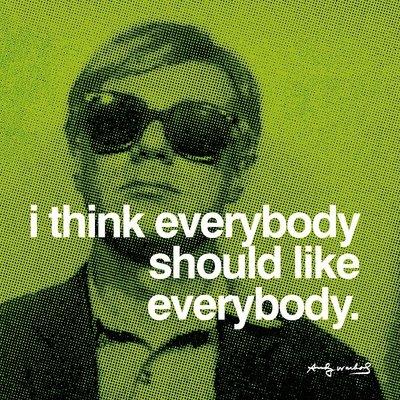 Andy Warhol Revolution (Kunstdruck 'Jeder', von Andy Warhol, Größe: 30 x 30 cm)
