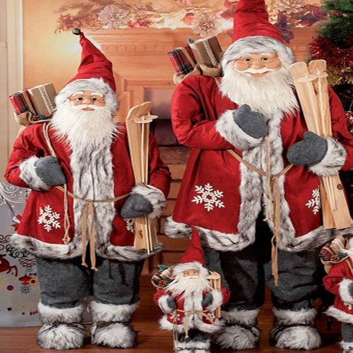 Generico babbo natale pupazzo altezza 45 cm, ideale per le decorazioni natalizie.