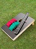 Cornhole Set mit Zählbrett mit einem Brett, 8 Säckchen und einem Zählbrett - Top Qualität made in Germany, handgemacht