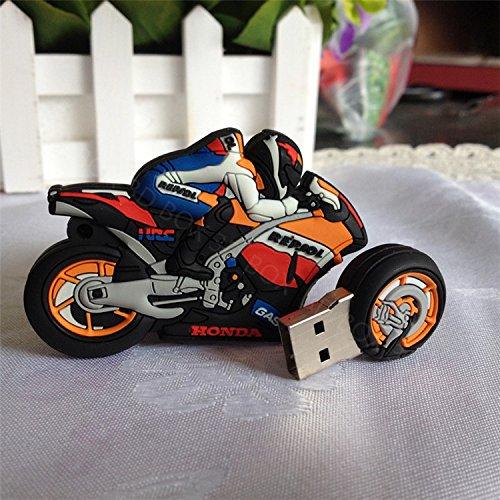 Chiavetta pen drive usb 2.0 8 gb flash drive a forma di moto honda