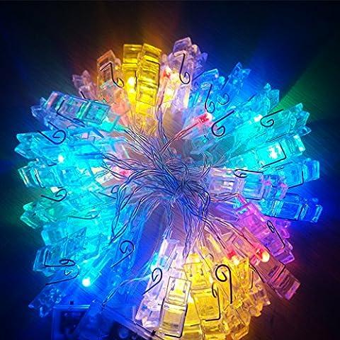 FAPPY 2.2M Foto LED luci stringa Flash Luce clip decorazione lampada creativa foto parete, compleanno, San Valentino, luci festa warm White