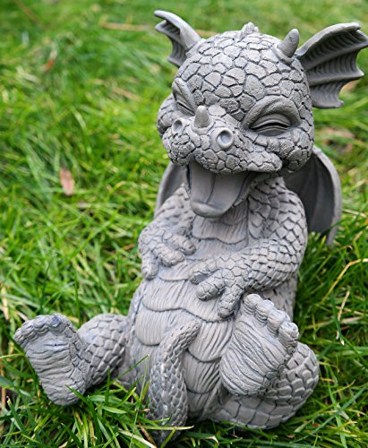 ars-bavaria-jardin-dragon-kringelt-se-antes-risa-dragon-figura-jardin-figura