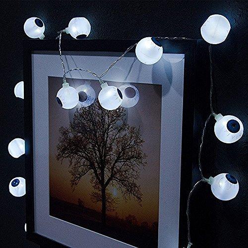 Solar-Garten Kugel Licht, AntEuro 10 LED Sonnenenergie-Augen-feenhafte Schnur-Licht / sternenklares Licht für im Freien, Haus, Patio, Garten, Danksagung, Weihnachten (Kaltes Weiß)