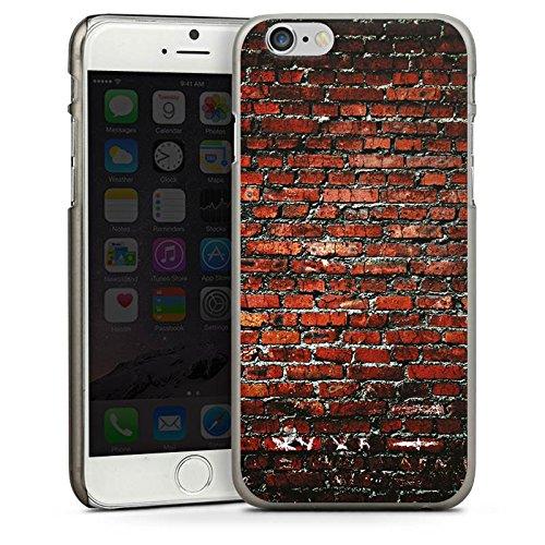 Apple iPhone 5s Housse Étui Protection Coque Brique Paroi en pierres Pierres rouges CasDur anthracite clair