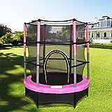 Greenbay 4,5Ft 139,7cm Junior Trampolin mit Sicherheitsnetz und Rock Kinder Kind Indoor Outdoor Aktivität Pink
