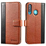 Jenuos Case For Huawei P30 Lite, Flip Leather Wallet Case