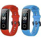 Perfettamente Compatibile con Il Braccialetto Smart Bracelet 4 / Honor 5, FYTENG Cinturino di Ricambio in Silicone Anti-smarr