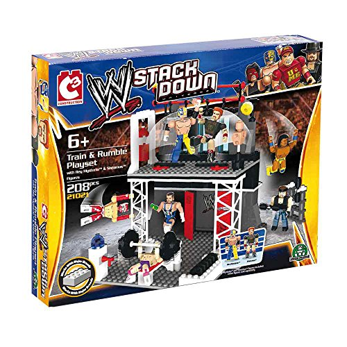 The Bridge Direct WWE StackDown Vehicle with Train & Rumble Playset