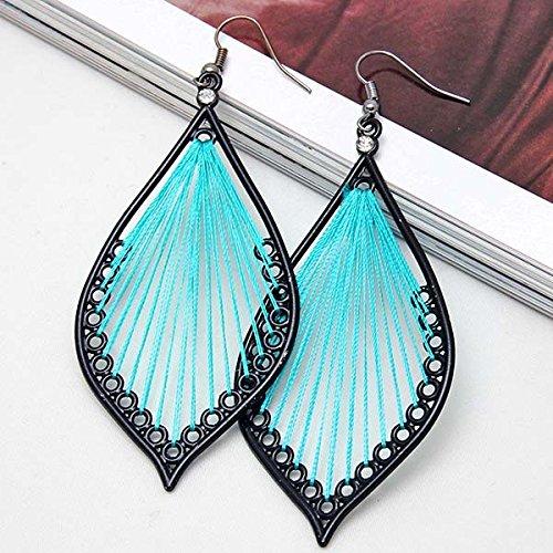 EvaluBuy (TM) neue Art und Weise nett schwarzes Handwerk Faden Ohrringe Schmuck # (Modeschmuck China Lieferanten)