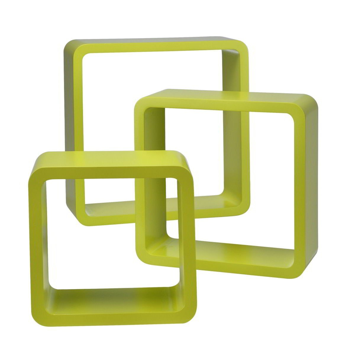 Wandregal würfel holz  Wandregale Würfel 3erSet quadratisch Cube Hängeregale Retro Design ...