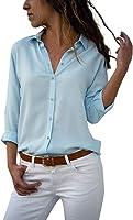 Camisas Mujer Casual, ❤️ Amlaiworld Camiseta de Cuello Alto de Solapa Casual para Mujer Camisetas de Manga Larga de...