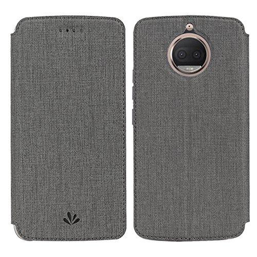 Moto G5S Hülle,Eactcoo Dünn Premium PU Leder klappbares Folio Flip Case Book TPU Cover Bumper Tasche Mit Standfunktion Magnetverschluss Kartenfach Wallet Handyhülle Für Moto G5S (Book-tasche-geldbörse)