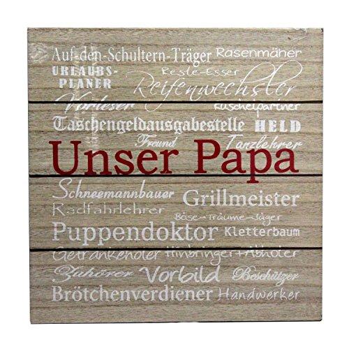 Preis am Stiel 1 x Bild - Papa | Bild für Küche | Wohnzimmer Deko | Wanddeko | Vatertag | Papa Geschenk | Bild Schlafzimmer | Bild mit Spruch | Geschenkidee Männer | Wand Deko Wohnzimmer