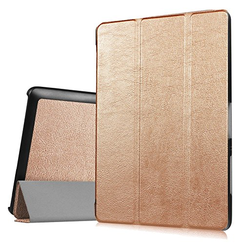 Schutzhülle für Acer Iconia One Tab 10 B3-A30 / A3-A40 10.1 Zoll Smart Slim Case Book Cover Stand Flip (Farbe: gold)
