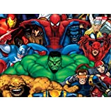 Athah Designs Wall Poster 13*19 Inches Matte Finish Marvel Iron Man Captain America Spider-Man Hulk The Thing Cyclops Beast Elektra Daredevil Thor