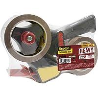 Scotch BP974 Heavy Dévidoir de ruban d'emballage avec 2 rouleaux de ruban 50 mm x 66