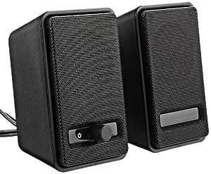 AmazonBasics A100 USB-Powered Computer Speakers - Black