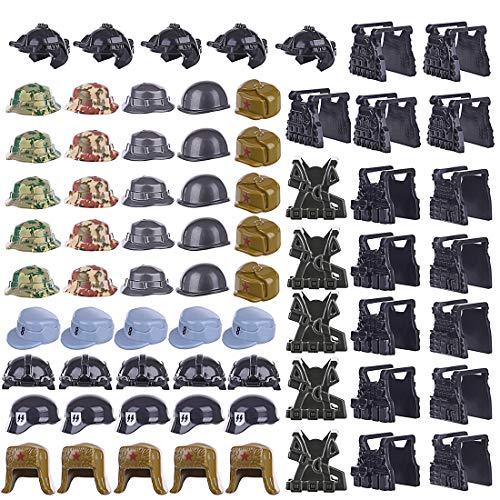 YAHAMA 70 Stücke Spezial Militär West Set Mit Helm für alle Schlachtfeld, Militär Bausteine Sich dem Lego anpassen