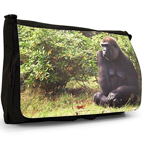 Fancy A Bag Borsa Messenger nero Gorilla Gorilla