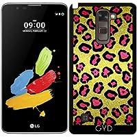Custodia per LG Stylus 2 - Glitters Rosa, Modello Del Leopardo by Tees2go