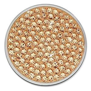 Amello Coin Edelstahl-Schmuck Coin mit Zirkonia rose – Coin für Amello Coinsfassung für Damen – – 30 mm, Größe M Edelstahlschmuck Stainless Steel ESC301E