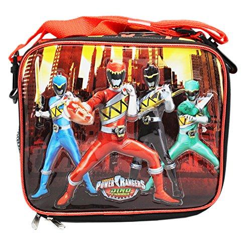 Borsa per il pranzo-Power Rangers-Dino Kit di ricarica cellulare nuovo 120263