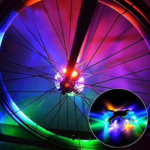 Wasserdichte LED Bike Wheel Lights, Bodecin Cool Colorful Bike Warning Light, 3 Modi Radfahren Bike Speichen Licht Safety Light, Magic Dekoration Licht, Fahrrad Zubehör Beleuchtung(Bunt) (Bunte Fahrrad-lichter)