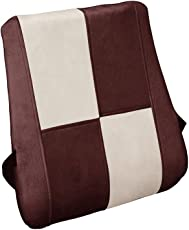 Auto Pearl Backrest_Chess_Beige_Brown Orthopaedic Memory Foam Backrest for All Cars (Beige)